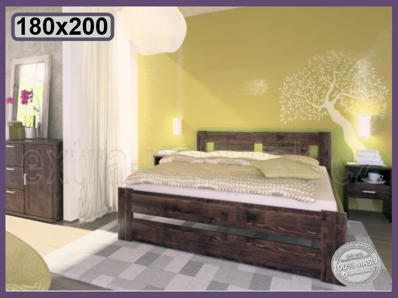dřevěná postel Cameron